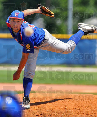 Throw strikes: Tylor Goldman started on the mound for Post 346 against Muncie Sunday afternoon on the North diamond.