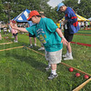 Rolling along: Bill Kibble of Porter County competes in the bocce ball tournament Sunday morning on the closing day of the 2009 Special Olympics.