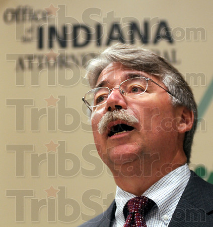Attorney General: Greg Zoeller talks about unclaimed money an items that may be owed to residents of Vigo Co. during his visit Friday afternoon.