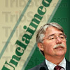 Unclaimed: Indiana Attorney General Greg Zoeller talks about unclaimed items during Friday's news conference at the Vigo Co. Annex.