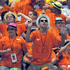 Colorful characters: Athletes dance in the isles of Hulman Center during the opening ceremonies of the 40th anniversary of the Indiana Special Olympics Friday evening at Hulman Center.