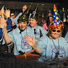 Festive feelings: Area 8 Special Olympians enter Hulman Center Friday eveing for the 40th annual event.