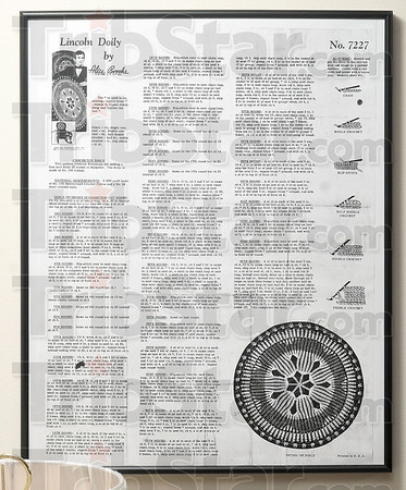 Tribune-Star/Joseph C. Garza<br /> Singles, slips and doubles: The instructions for Dorothy Higgs' Lincoln doily were originally printed in a newspaper in the 1940s.