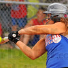 Help yourself: Stephanie Fougerousse gets a hit to help spark the fifth inning outburst that proved the difference in their softball game with Wheeler Friday evening in Indianapolis.