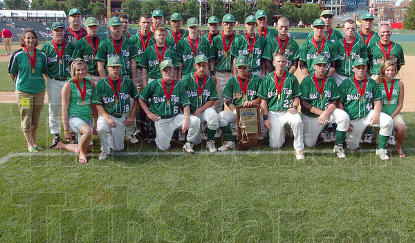 Runners up: The West Vigo baseball team poses for a photo after their second place finish Saturday at Victory Filed. They lost 6-3 to Andrean.