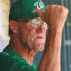 He's out: West Vigo coach Steve DeGroote makes his own call from the dugout.
