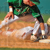 Gotcha: West Vigo firstbaseman Aaron Welch tags Andrean baserunner Adam Norton on a perfect pickoff throw by catcher Jeremy Lucas.