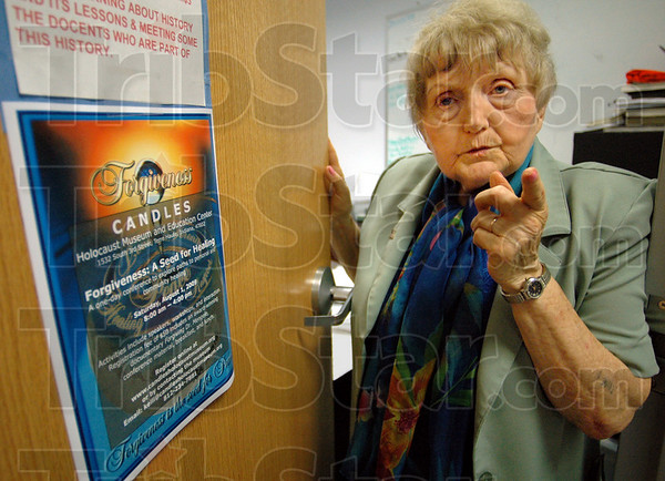 Forgivness: Eva Kor talks forgiveness from an office in the C.A.N.D.L.E.S. Museum Wednesday afternoon.