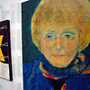 Holocaust Museum: Detail photo of a portrait of Eva Kor  hanging in the C.A.N.D.L.E.S. Museum.