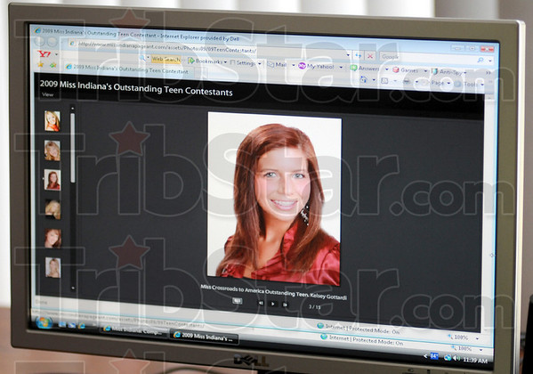 Website: Kelsey Gottardi's photograph appears on the 2009 Miss Indiana's Outstanding Teen website.