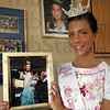 Winner: Kelsey Gottardi holds a photograph from her win as Miss Crossroads.