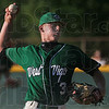 "Tribune-Star/Joseph C. Garza<br /> A ""W"" for Wampler: West Vigo's David Wampler pitches against a South Vermillion batter during the Vikings' sectional championship win Monday at West Vigo."