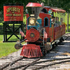 Comin' round the bend: The Spirit of Terre Haute begins it round of Deming park Monday afternoon.