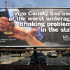 Drinking problem: Billboard announcing the Vigo Co. drinking issue located at 8th and Poplar streets.