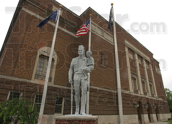 Code: The first lines of the Shriners code talk of the importance of service to their fellow man. This statue stands outside the Zorah Shrine at 7th and Chestnut streets.