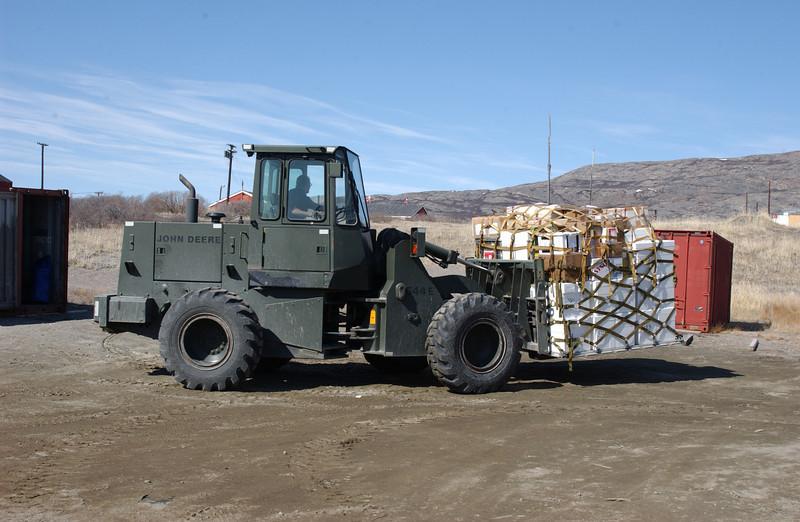 A pallet of field gear ready to go.<br /> <br /> En palle med feltudstyr klar til afgang.