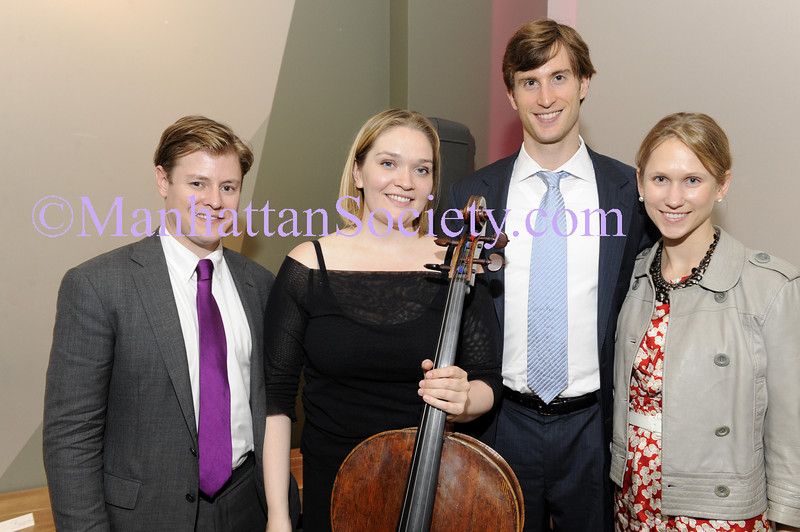 NEW YORK-JULY 21: Kipton Cronkite, Cellist Saeunn Thorsteindottir, Justin  Rockefeller,  Indre Vengris Rockefeller  attend artistic presentation of Cellist Saeunn Thorsteindottir by KiptonART Foundation, Carnegie Hall Notables, & Norwood Club on Tuesday, July 21, 2009 at Norwood Club, 241 West 14th Street, New York, NY 10011 (Photo Credit: ManhattanSociety.com by Gregory Partanio)