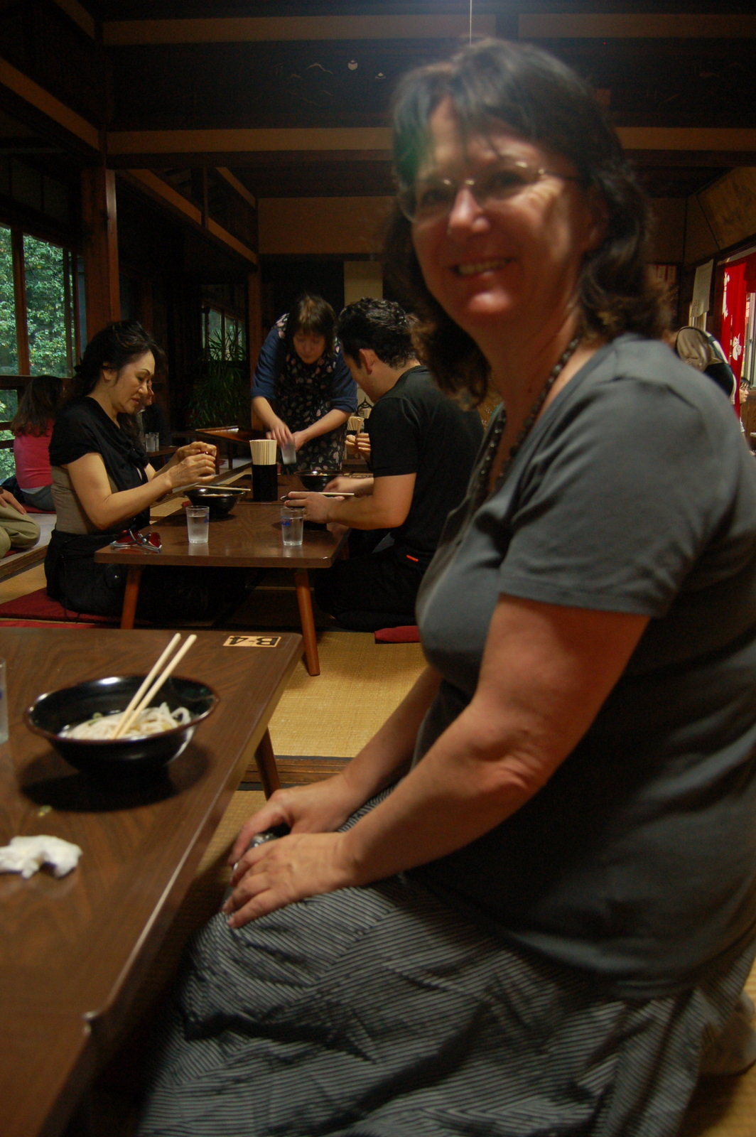 eating udon