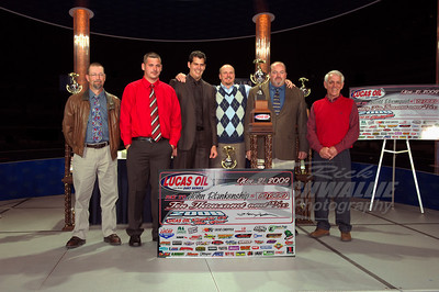 2009 Lucas Oil Late Model Dirt Series Rookie of the Year John Blankenship and his race team.