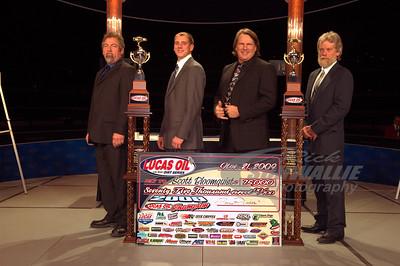 2009 Lucas Oil Late Model Dirt Series Championship team Tony Wiggins, Jesse Kerns, Scott Bloomquist, and Tommy Hicks