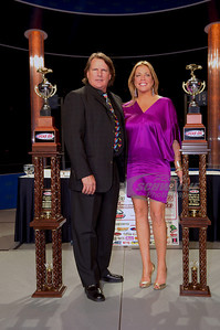 2009 Lucas Oil Late Model Dirt Series Champion Scott Bloomquist and his wife Katrina