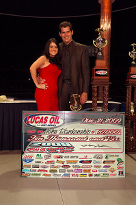 2009 Lucas Oil Late Model Dirt Series Rookie of the Year John Blankenship and his wife Heather