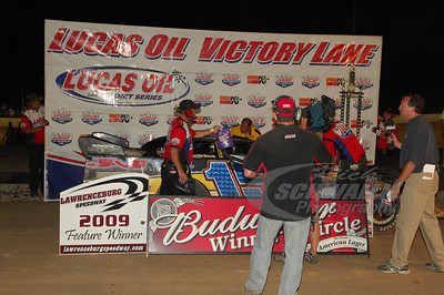Brian Birkhofer in Victory Lane @ Lawrenceburg Speedway