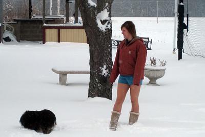 Macki in the Snow