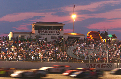 A packed house @ Magnolia Motor Speedway