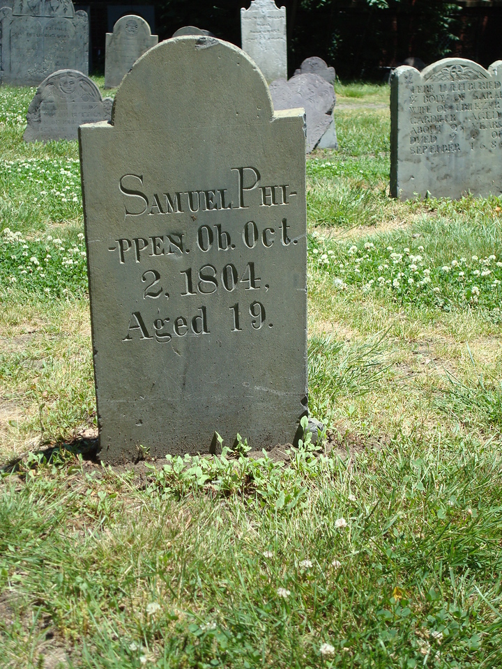 Salem, Mass. - My favorite headstone; hyphenating the name! Awesome!