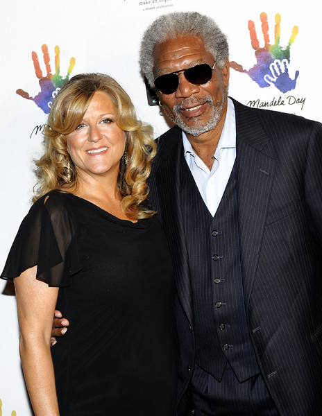 NEW YORK-JULY 15: Lori McGreavy and Morgan Freeman  attend Mandela Day Gala Dinner 2009 on Wednesday, July 15, 2009 at Vanderbilt Hall, Grand Central Terminal, 87 East 42nd Street, New York City, NY (Photo Credit: ManhattanSociety.com by Christopher London)