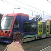 Midland Metro AnsaldoBreda T69 tram no. 14 at West Bromwich.