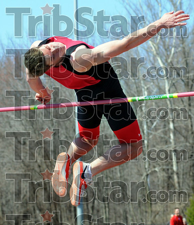 Winner: Rose-Hulman's P.J. Schulthies cleas six feet in the high jump to win Saturday's event.
