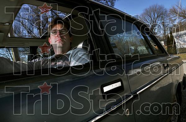 Tribune-Star/Joseph C. Garza<br /> Still going: Paris, Illinois resident Brian Bridges bought his 1986 Volvo 240 eight years ago and has passed the 200,000-mile mark.