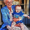 Family time: Marilyn Pendergst with her grandson Peter Hayes.