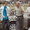 In custody: Vigo Co. Sheriff's detective Frank Shahadey takes a man into custody Tuesday afternooon in a North Terre Haute market parking lot.