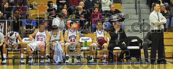 The end: The Northview bench  wears their feelings openly in the waning seconds of their first round loss to Plainfield Tuesday night.