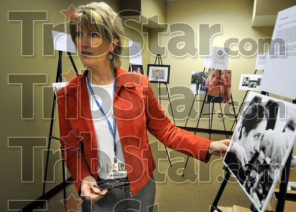 Exhibit: Sue Jarvis talks about the photography and art exhibit opening at the Hux Cancer Center Tuesday afternoon.