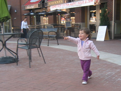 Mia's First Bus Trip: to the Boulder Pearl Street Mall