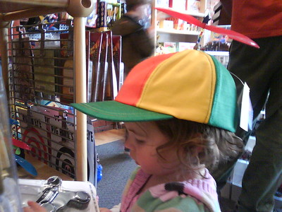 Mia with Spinner Hat