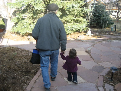 Papa Ben and Mia Heading for the Playground