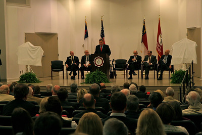 John Henry Moss spends his day at Gardner-Webb University and the creation of the JHM Baseball Stadium is unveiled to the public; March 26, 2009.