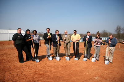 Groundbreaking for the McDonalds to open in Boiling Springs, North Carolina; March 06, 2009.