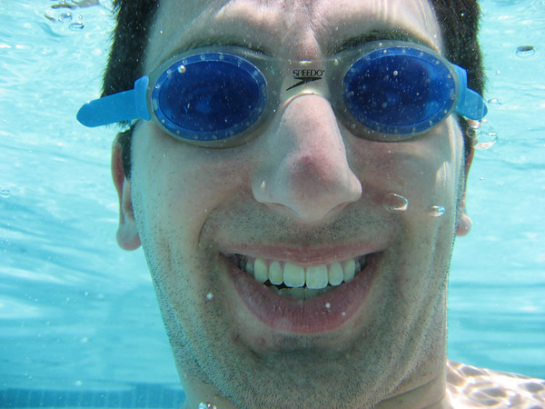 Me in the pool -- i like the detail of all my stubble!