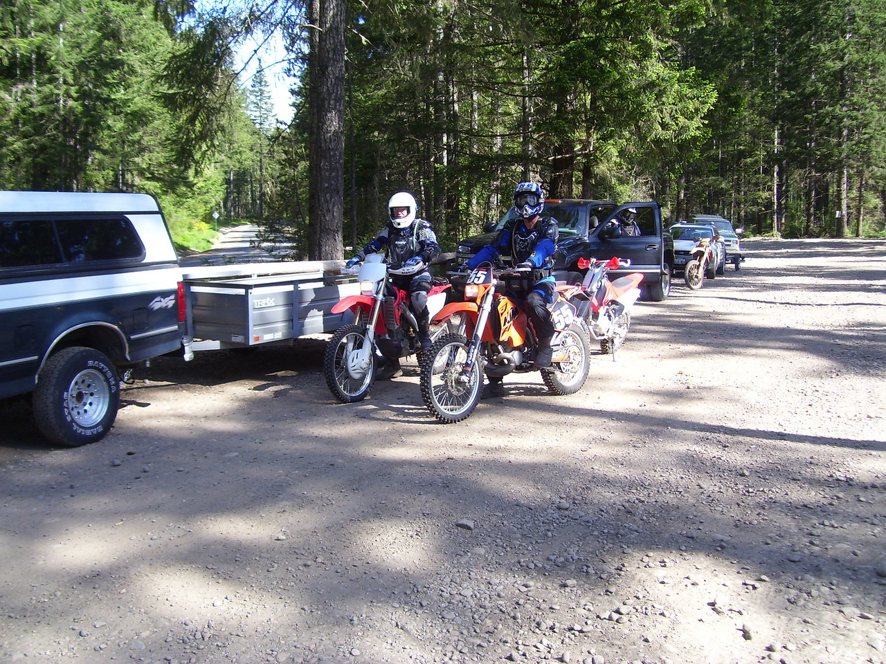 Getting ready to go for last Saturday's trail ride