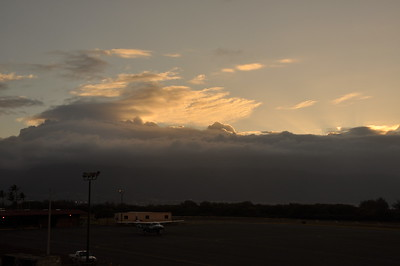 Final Maui Sunset from Airport Window....