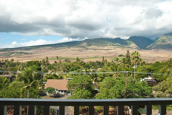 Our view out of the balcony of our studio condo at the Lahaina Shores Beach Resort