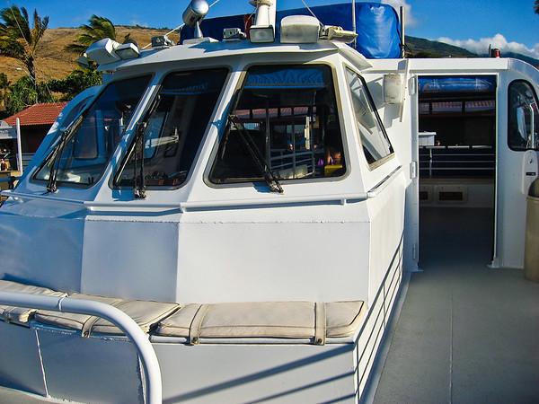 The quicksilver snorkling boat