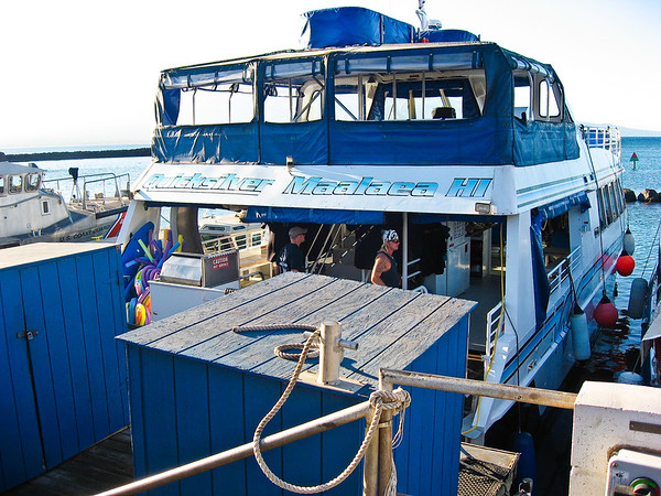 Our snorkling boat with Quicksilver