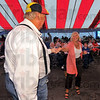 Let's dance: David Walbring and his bride Nancy take a turn on the dance floor on the first night of the Strassenfest.